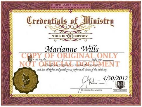Ministry ordination